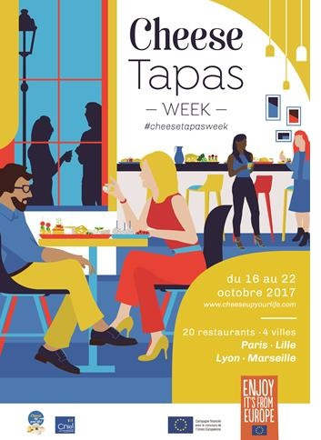 Cheese tapas week à Paris, Lille, Lyon et Marseille