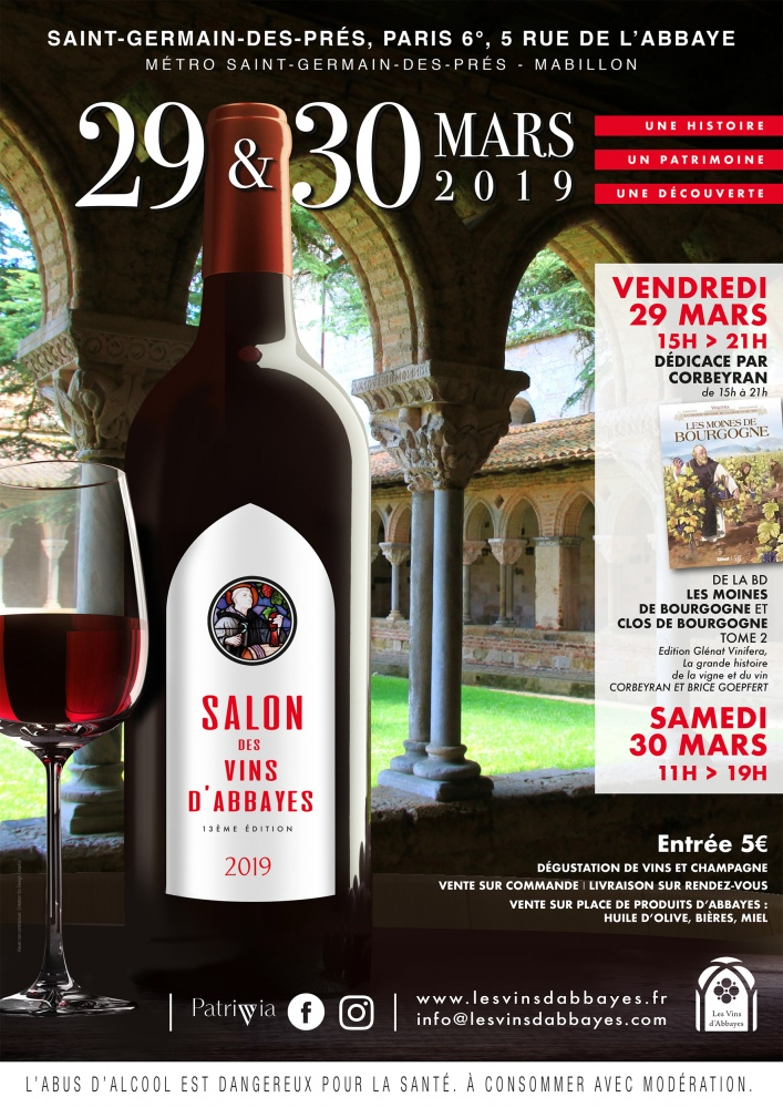 Salon des Vins d'Abbayes à Paris